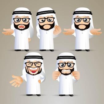 Ludzie ustawiają arab office poważne emocje
