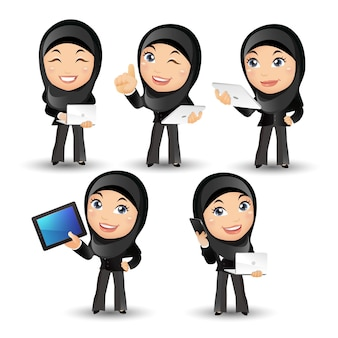 Ludzie ustawiają arabskich ludzi biznesu business