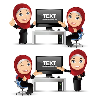 Ludzie ustawiają arabskich ludzi biznesu