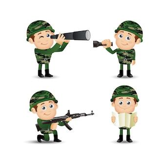 Ludzie ustawiają armię zawodową