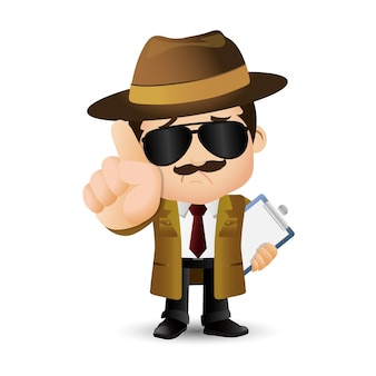 Ludzie ustawiają detektywa zawodu