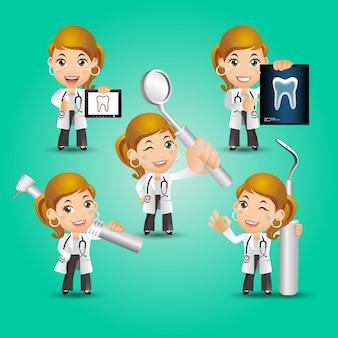 Ludzie ustawiają zawód dentysty
