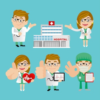 Ludzie ustawiają zawód lekarza