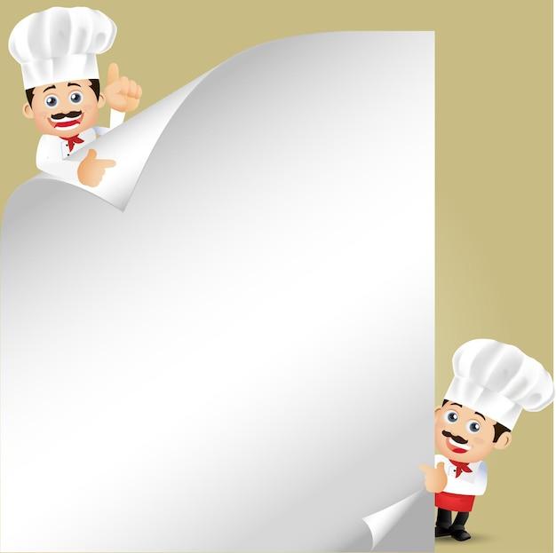 Ludzie ustawiają zawód szefa kuchni