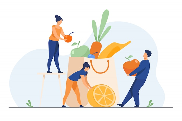 Ludzie utrzymujący zdrową dietę