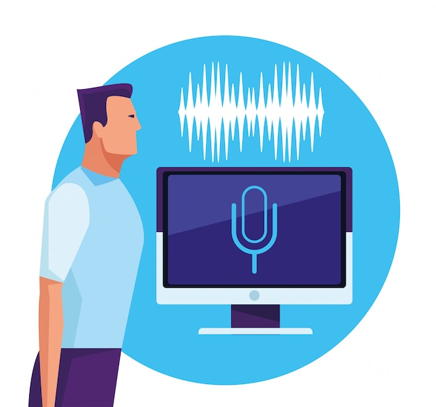 Ludzie używający rozpoznawania głosu