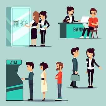Ludzie w banku