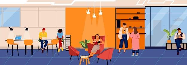 Ludzie w coworkingu ilustracji