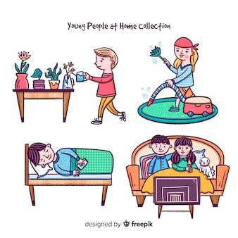 Ludzie w domu
