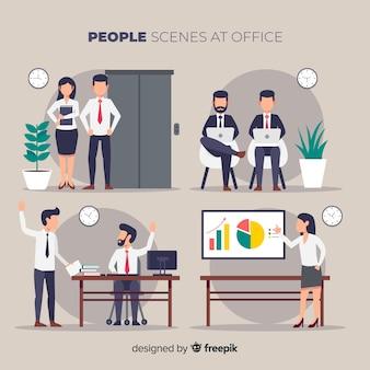 Ludzie w scenach biurowych