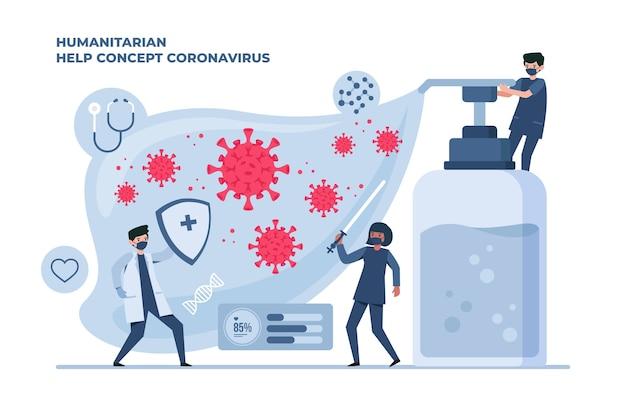 Ludzie walczący z koronawirusem