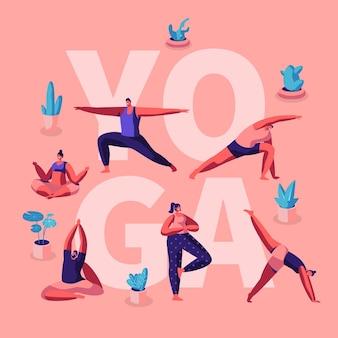 Ludzie wykonujący ćwiczenia jogi
