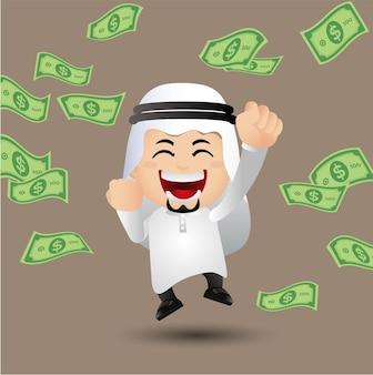 Ludzie wyznaczają arabskich ludzi biznesu