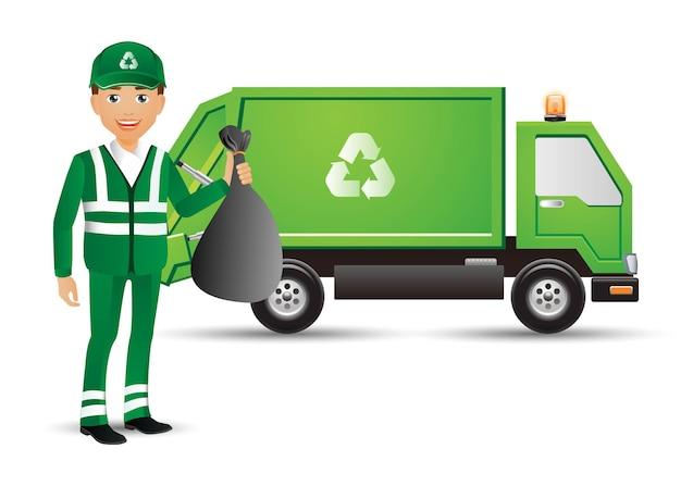 Ludzie wyznaczają zawód street cleaner
