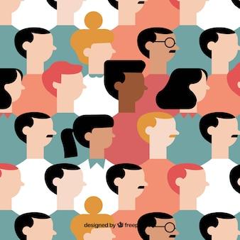 Ludzie wzór z płaskiej konstrukcji