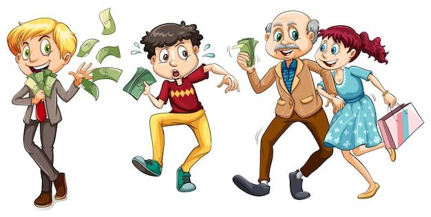 Ludzie z dużą ilością pieniędzy