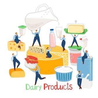 Ludzie z gospodarstw mlecznych