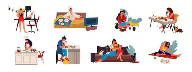 Ludzie z ilustracjami hobby