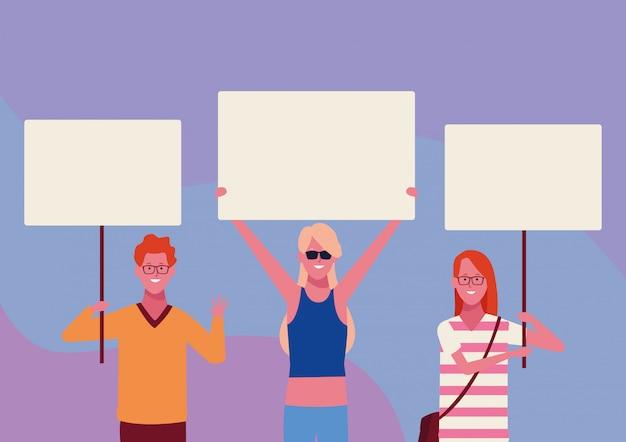 Ludzie z plakatami