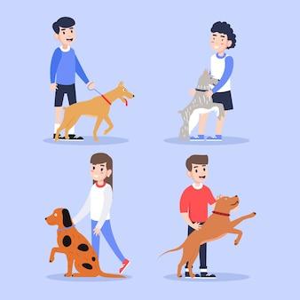 Ludzie z różnymi zwierzętami