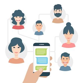 Ludzie z telefonu komórkowego