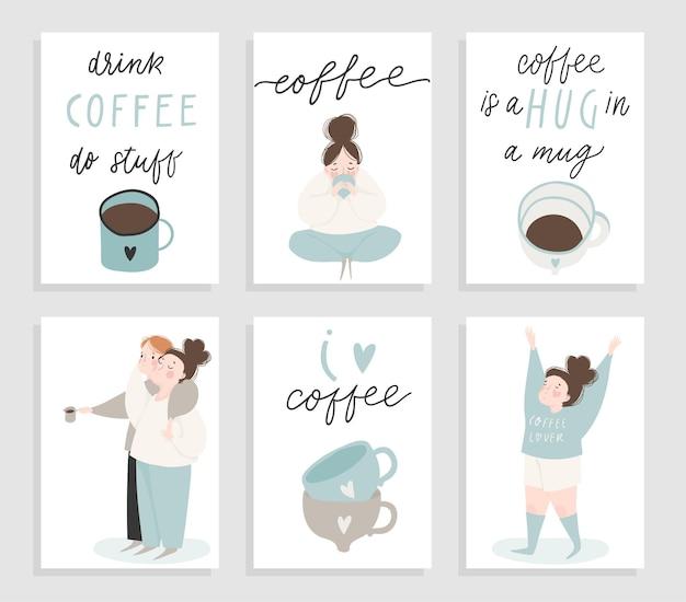 Ludzie z zestawu do kawy