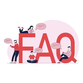 Ludzie zadają pytania i otrzymują instrukcje