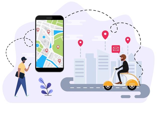 Ludzie zamawiają transport online