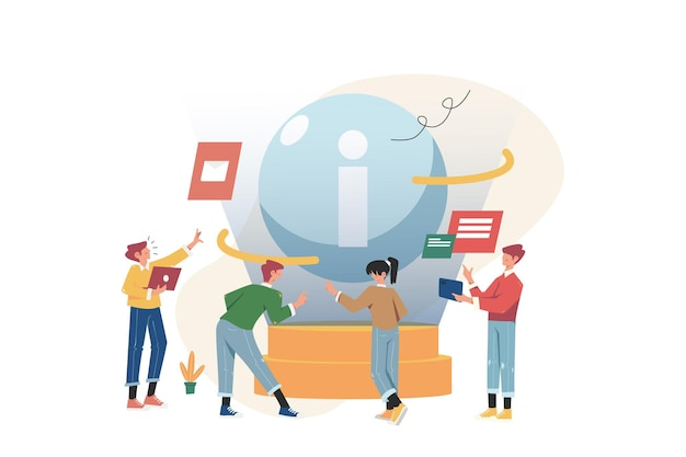 Ludzie zbierają nowe informacje, aby zbudować biznes