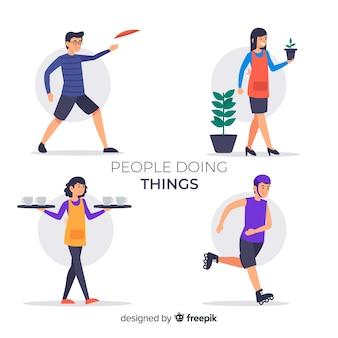 Ludzie zbierający rzeczy