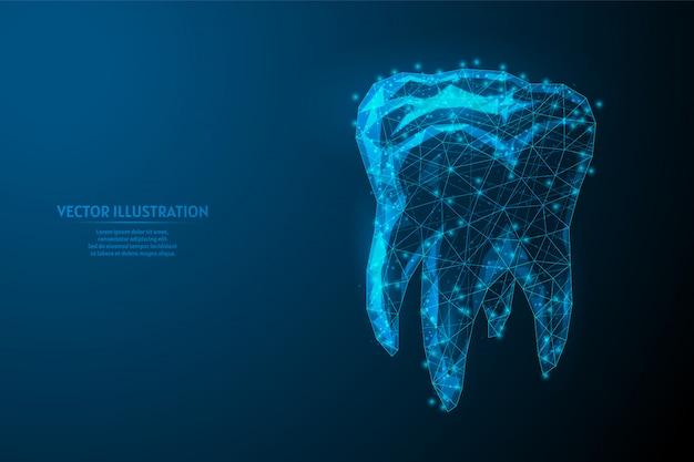 Ludzki ząb z bliska. modelowa anatomia narządu. ortodoncja, stomatologia. koncepcja leczenia zębów, szczotkowanie jamy ustnej. innowacyjna medycyna i technologia.