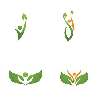 Ludzki znak logo znak ilustracja projekt wektor