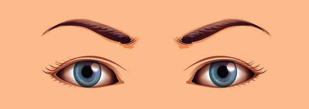 Ludzkie oczy z bliska