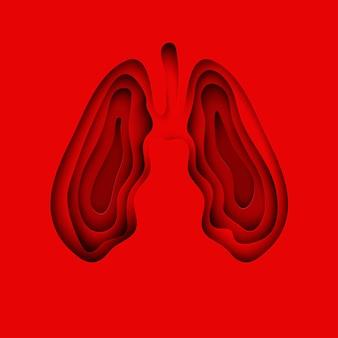 Ludzkie papierowe płuca jako symbol zdrowych płuc