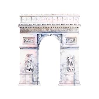 Łuk de triomphe w paryżu wektor