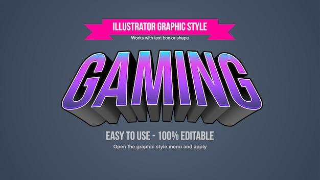 Łukowy fioletowy neon wielkie litery sportowe do gier, edytowalny efekt tekstowy
