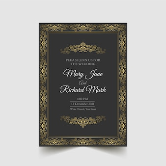 Luksus zapisz datę ślubu zaproszenie