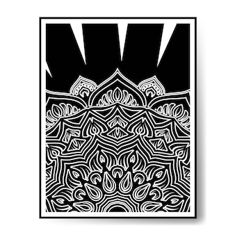 Luksusowa czarno-biała mandala czarno-biała dekoracja!