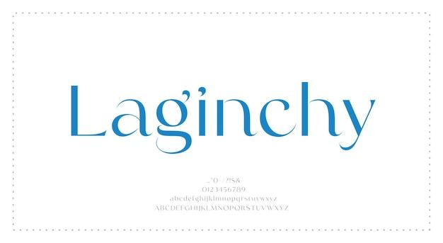 Luksusowa czcionka alfabetu
