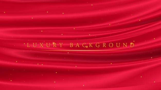 Luksusowa czerwień ze złotymi błyszczącymi błyskami do wręczenia lub ceremonii