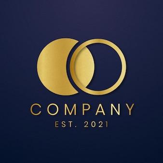 Luksusowa ikona logo złota .