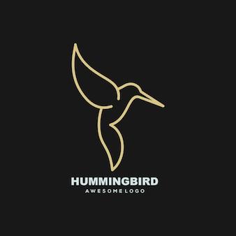 Luksusowa ilustracja logo brzęczącego ptaka dla twojej firmy