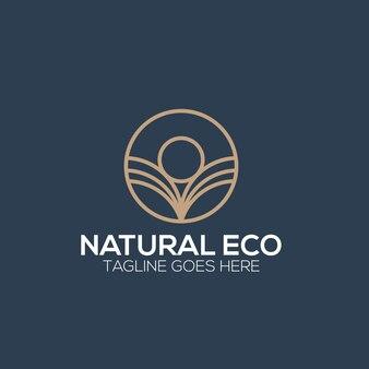 Luksusowa ilustracja logo naturalnego ekologicznego dla twojej firmy