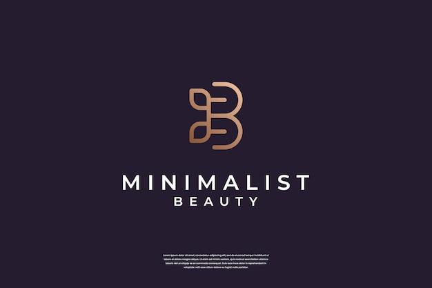 Luksusowa inspiracja do projektowania logo b i liści