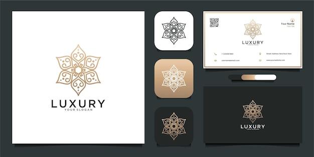 Luksusowa inspiracja projektowania logo i wizytówka premium wektor