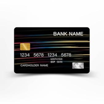 Luksusowa karta kredytowa. inspiracja abstrakcyjna. błyszczący plastikowy styl.
