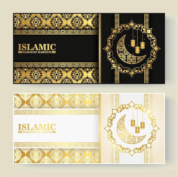 Luksusowa karta z pozdrowieniami islamski ramadan kareem