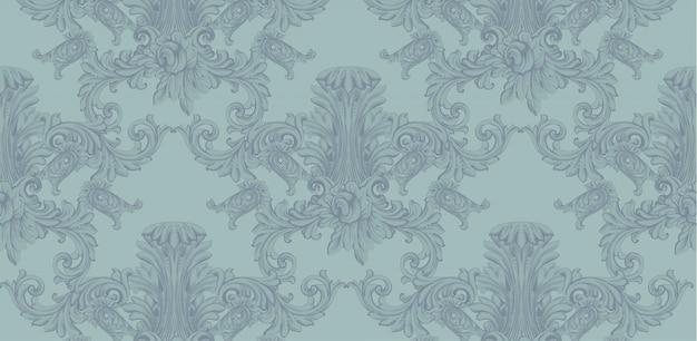 Luksusowa karta zaproszenie. królewski wiktoriański wzór ornament