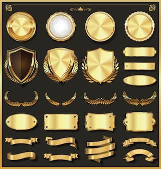 Luksusowa kolekcja elementów ze złota i srebra