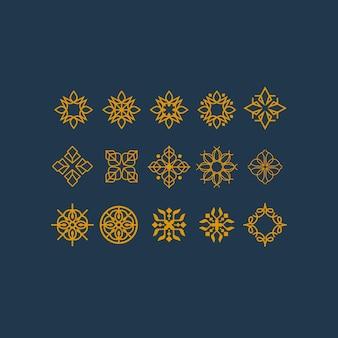 Luksusowa kolekcja mandali z grafiką liniową